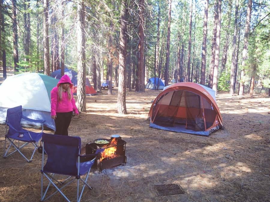 Camping at Mono Hot Springs in California
