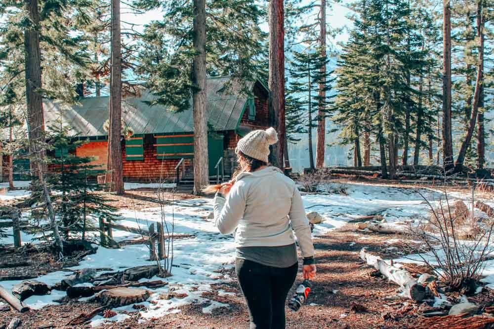 Hiking in Lake Tahoe, Northern California.
