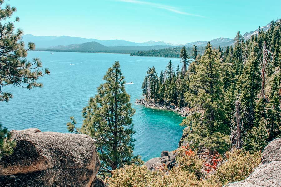Rubicon Trail looking over Lake Tahoe in California, one of the best Northern California hikes.