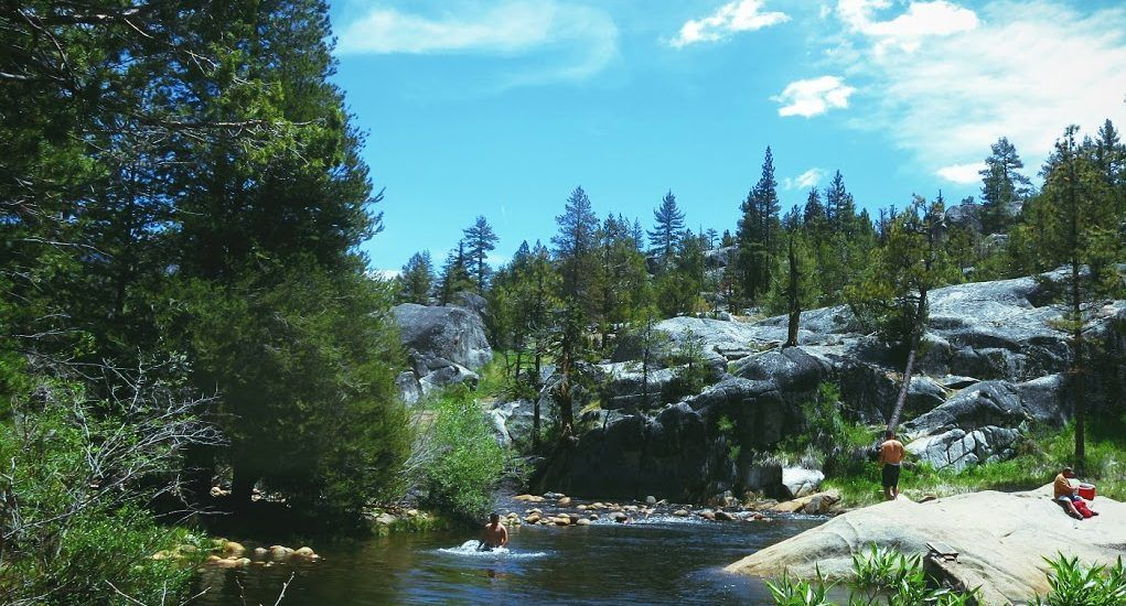 The river at Mono Hot Springs in the high Sierra Nevada mountains.