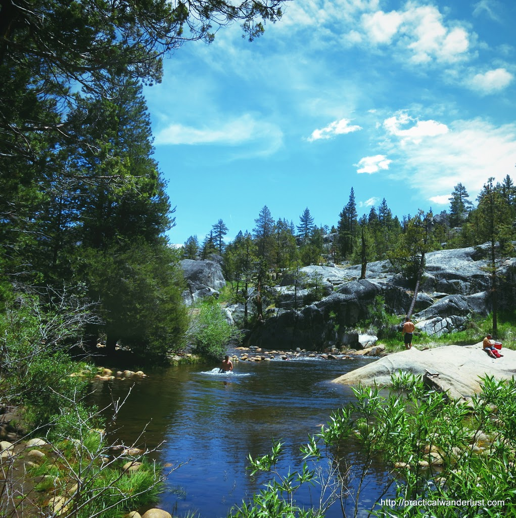 River at Mono Hot Springs in the High Sierra Nevadas, California