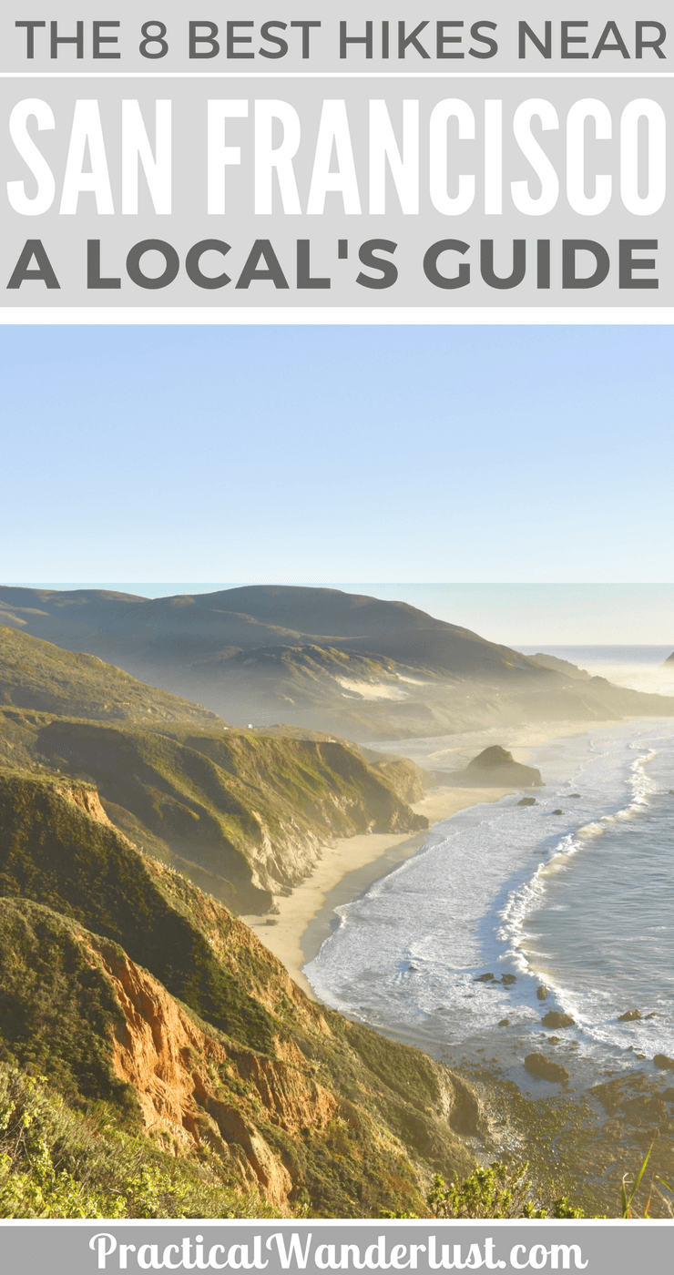A local's guide to the 8 best hikes near San Francisco. I bet you haven't heard of a few of these! Big Sur, Oakland, Lake Tahoe, Big Basin, redwoods hikes.