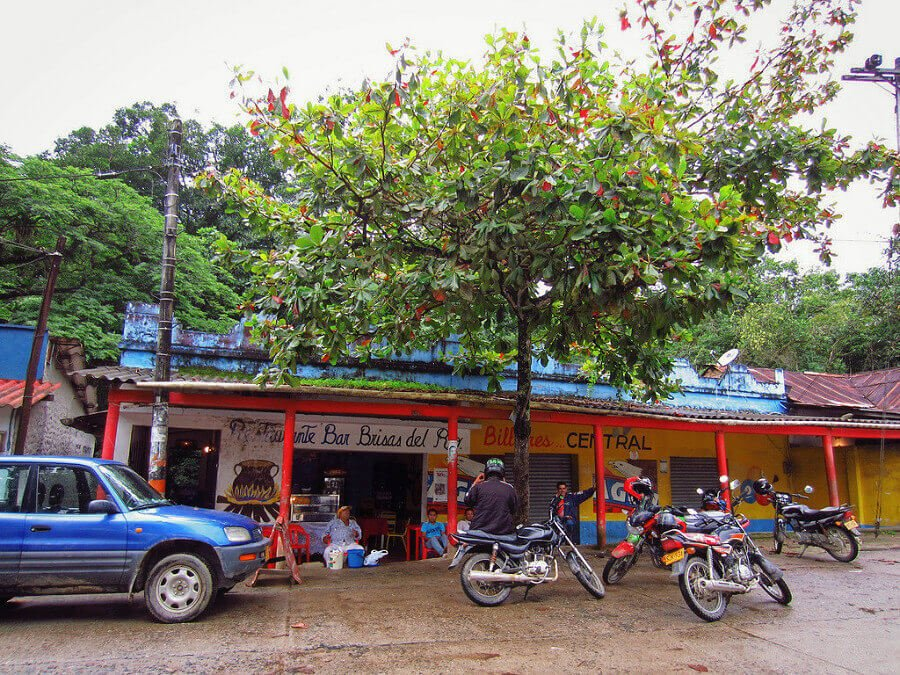Downtown Minca Colombia mototaxis!