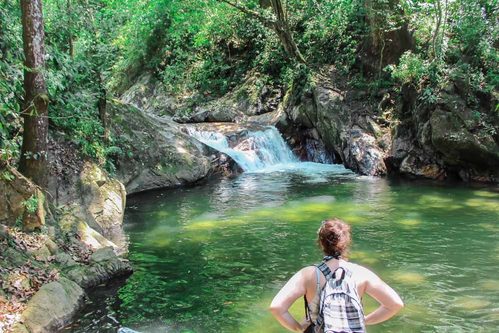 Pozo Azul swimming hole and waterfall in Minca, Colombia.