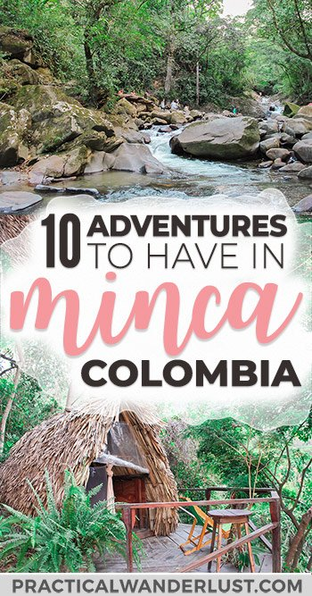 Minca, Colombia isn't on the typical South America backpacker trail. Perched on a mountain only 45 minutes away from Santa Marta, and only 5 hours away from bustling Cartagena, Colombia, it is well worth the detour! Here's 10 amazing adventures in Minca. #Colombia #SouthAmerica #Travel