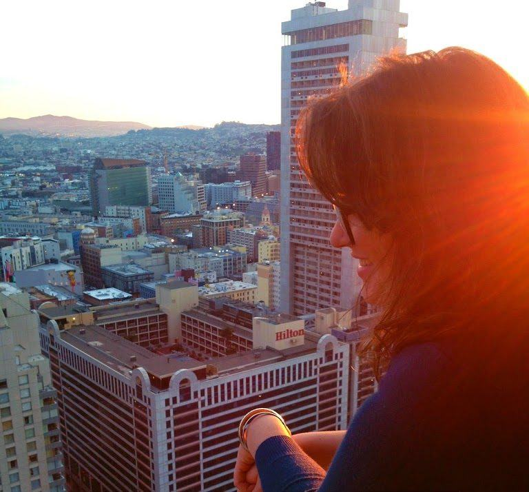 Enjoying the views from the Westin St. Francis hotel in Union Square, San Francisco!