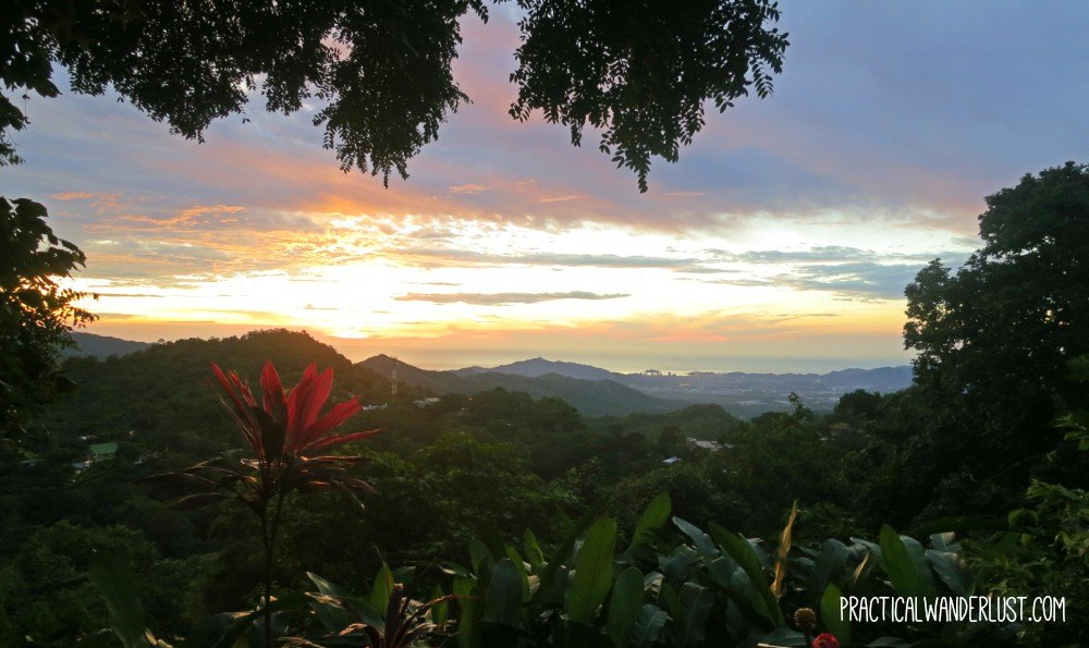 Sunset over the Caribbean ocean in Minca, Colombia. Getting around Minca is most easily accomplished using mototaxis, which can take you through jungle forests with ease. Read more about transportation in Colombia in our guide.