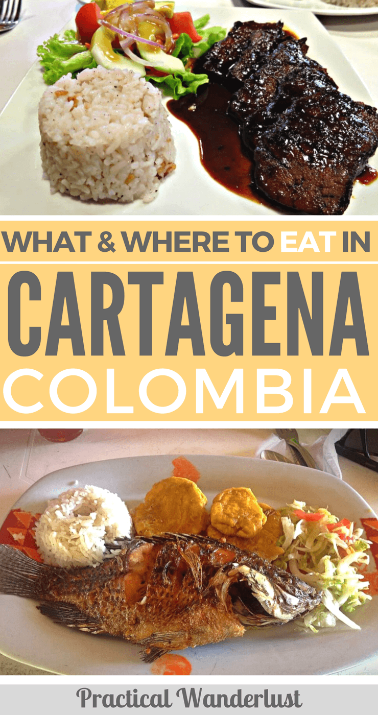 What & where to eat on a budget in Cartagena, Colombia! The best restaurants in Cartagena and Getsemani and what Colombian food to try. #Colombia #Travel