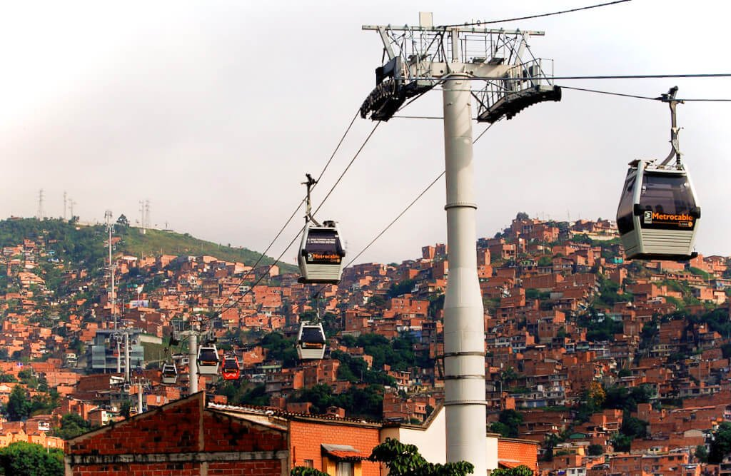 One of the most unique and fun ways to take a city tour of Medellin is from above, on the city's Gondola Metro! You'll be treated to stunning views from inside your own little car.