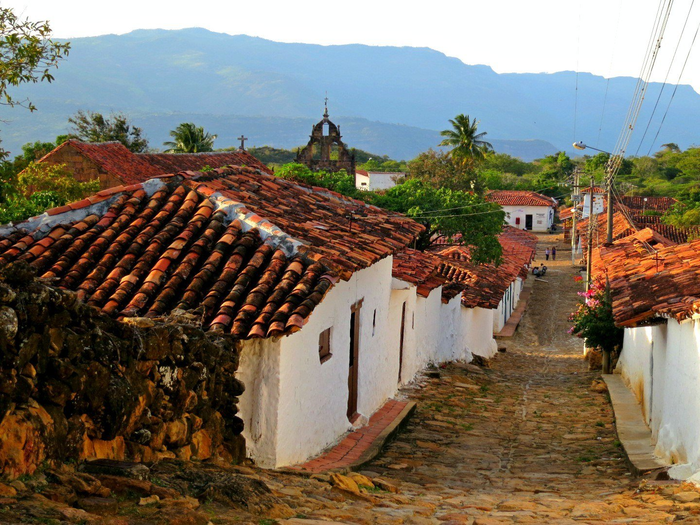 Guane on the Camino Real hike from Barichara in the Santander region near San Gil, Colombia. To get there, just take a bus from San Gil! Read all about transportation in Colombia in our guide.