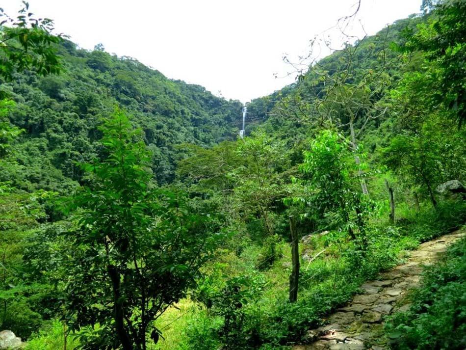 View of Cascadas De Juan Curi in San Gil, Colombia