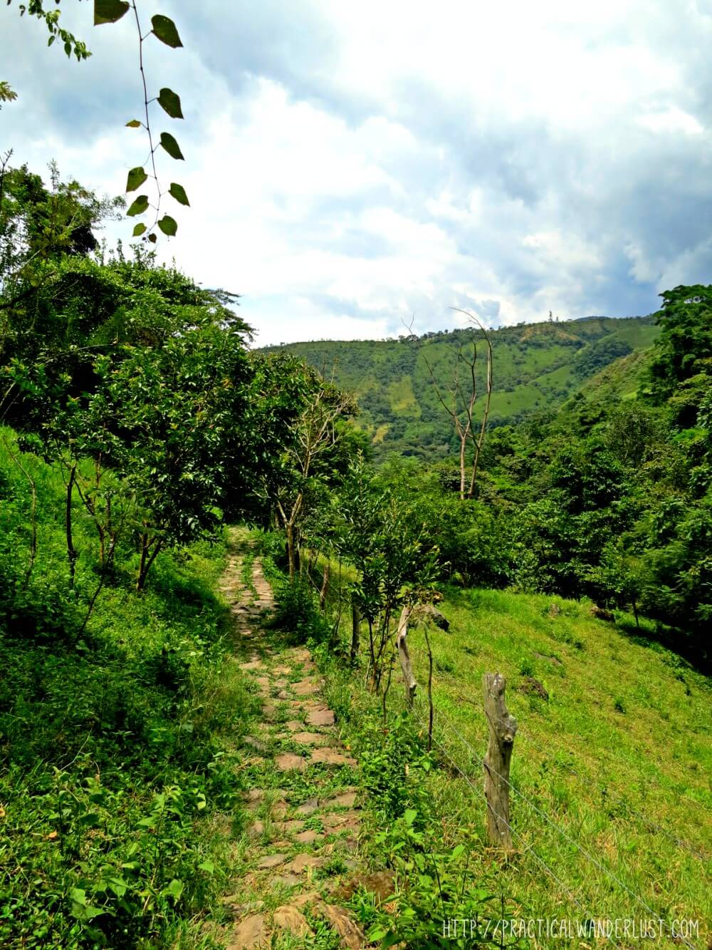The walk to Juan Curi waterfall in San Gil, Colombia is pretty and flat until you decide to rapell, at which point it turns into a near-vertical hill scramble complete with ropes to haul yourself up.