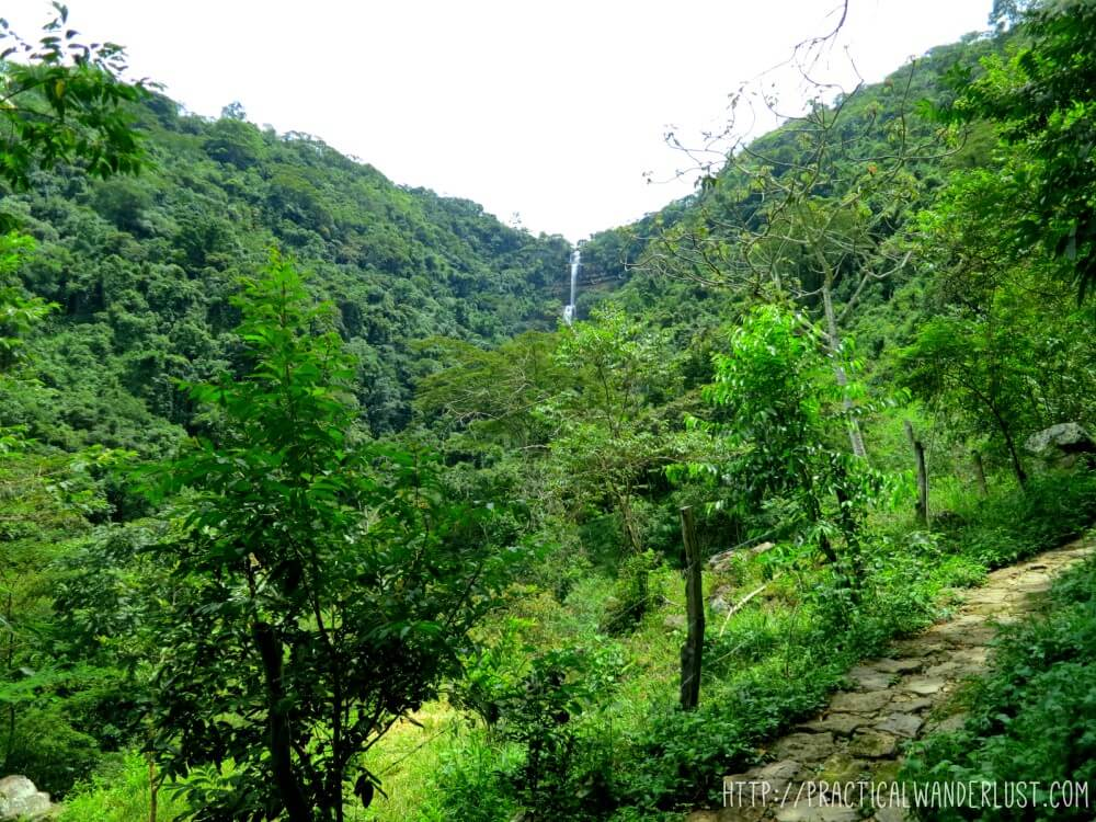 View of Juan Curi waterfall in San Gil, the adventure capital of Colombia.