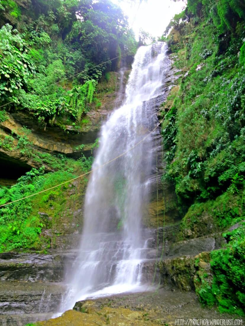 Juan Curi Waterfall in San Gil, Colombia AKA death itself. Does this look like something you want to go waterfall rappelling off of? I tried it. Trust me. You don't.