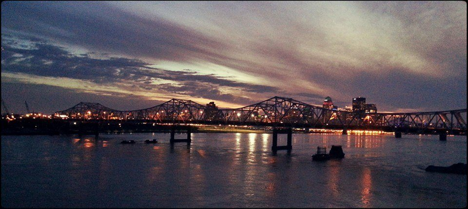 The Louisville skyline at sunset. My old Kentucky home.