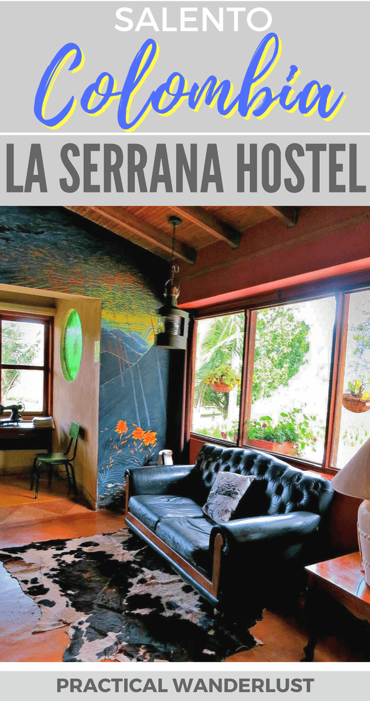 Glamping at La Serrana Eco-Farm and Hostel in Salento, Colombia. One of the best hostels in Colombia. Perfect for budget travelers thanks to the $5 organic family style dinners!
