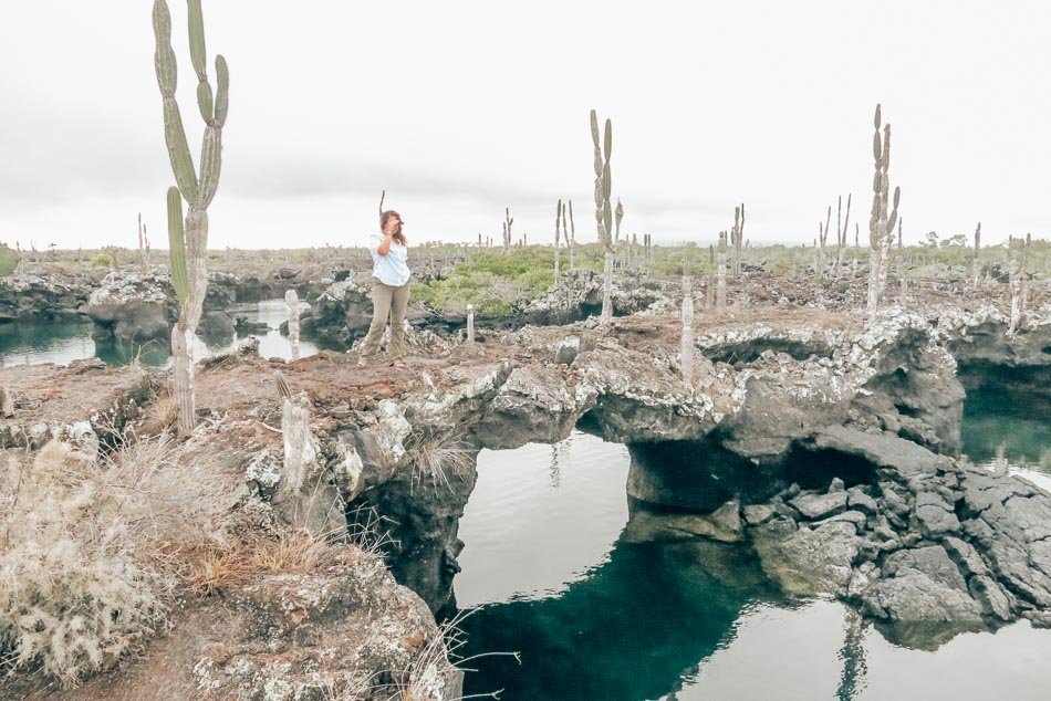 The Lava Tunnels are one of the highlights of the Los Tuneles tour (and its namesake) in Isla Isabela, Galapagos Islands, Ecuador.