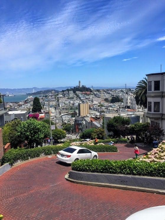 Curvy Lombard Street in San Francisco, California