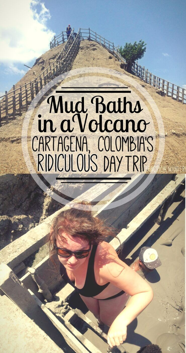 Volcan Totumo is a dormant volcano in which unsuspecting tourists willingly pay to take mud baths. Find out why this is the most ridiculous tour in Cartagena, Colombia!