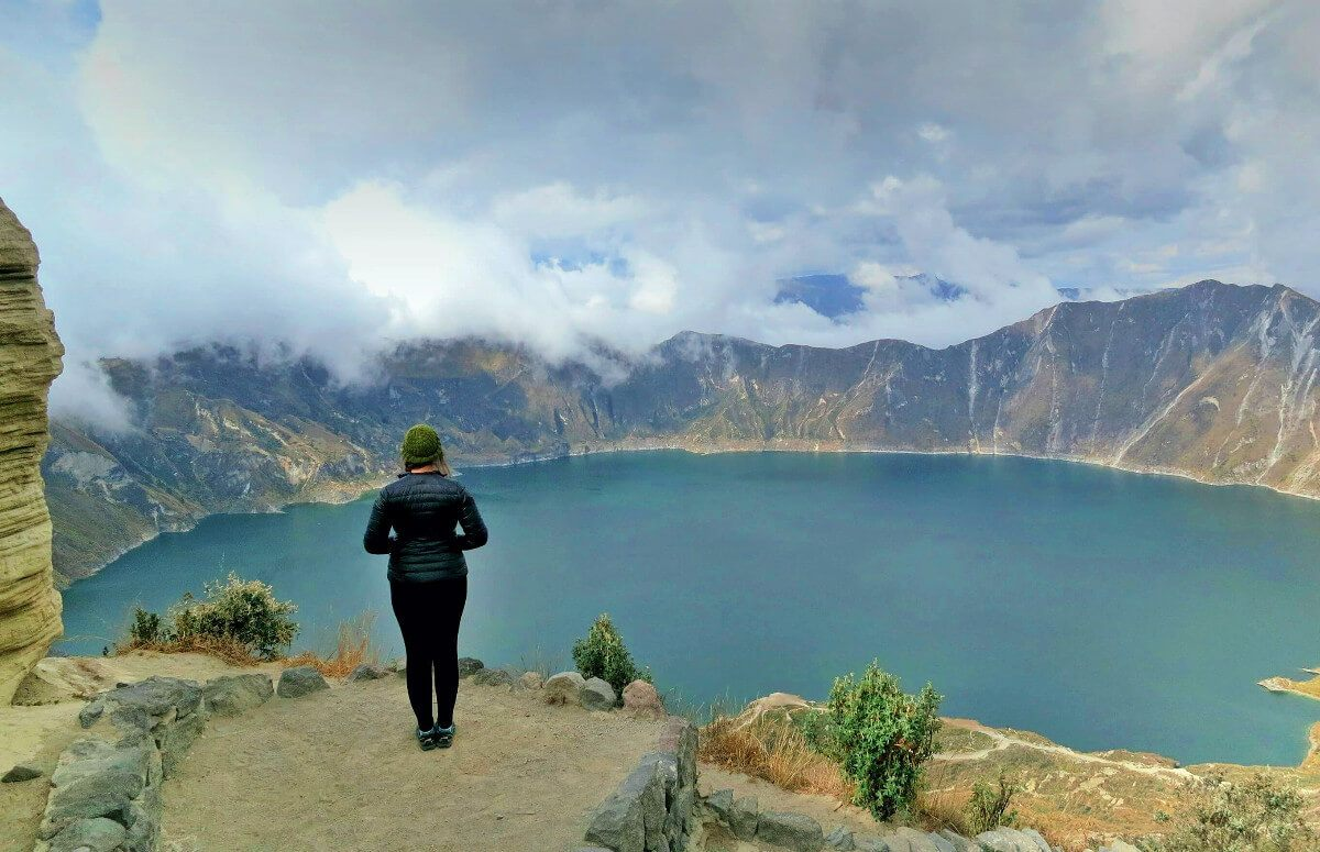 The stunning Quilotoa Lake in