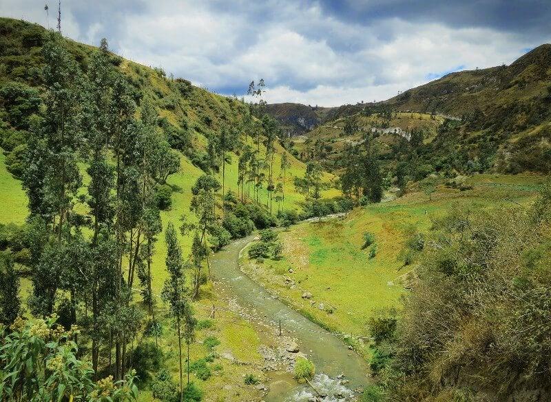 Between Isinlivi and Sigchos on the Quilotoa Loop in Ecuador.