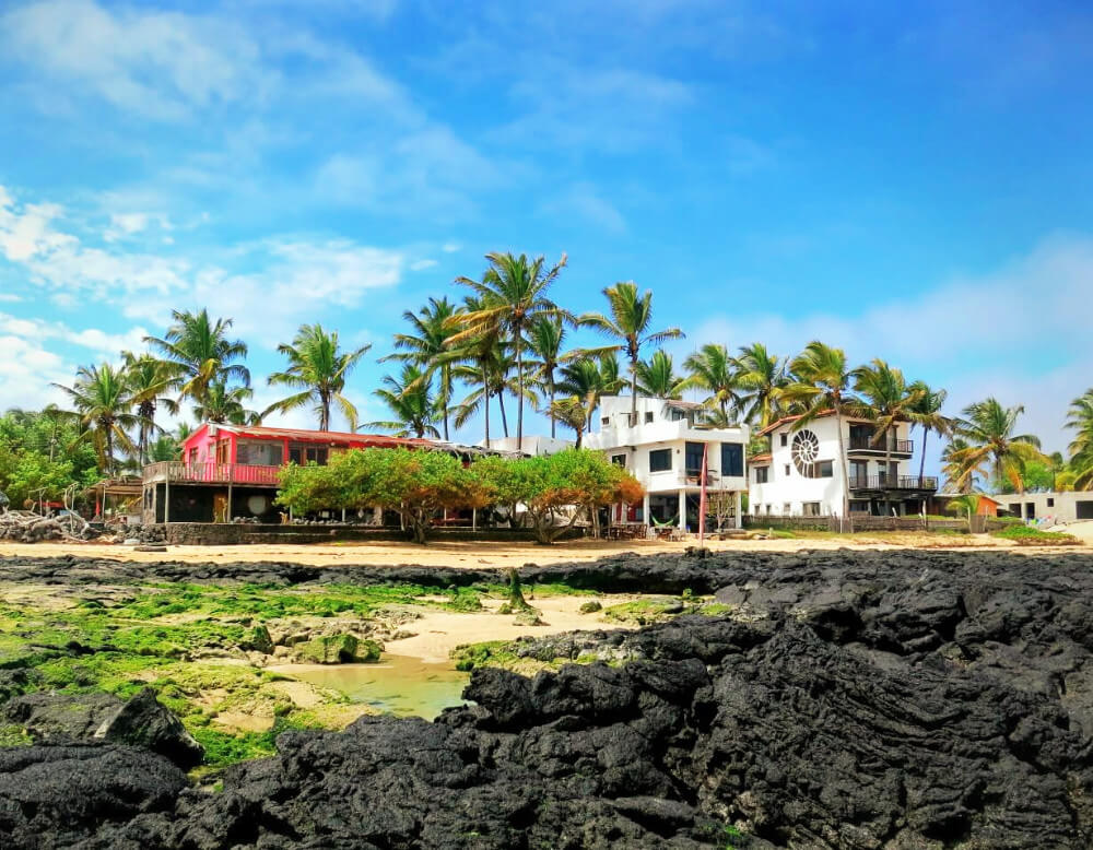 Casa Rosada hotel in Puerto Villamil on Isabela Island in the Galapagos, Ecuador