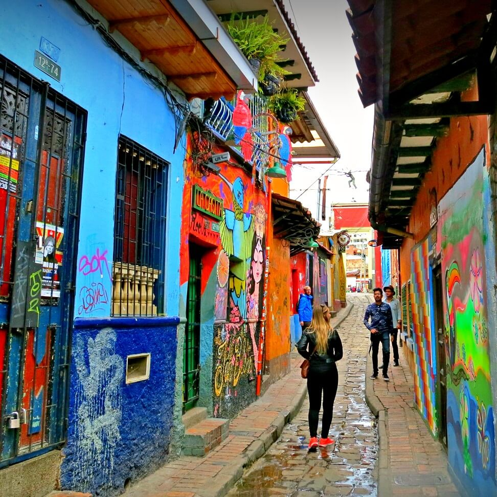 The colorful streets of the Candelaria district in Bogota, Colombia are also a hotbed of theft and can be dangerous after dark! Follow these basic travel safety tips to prevent theft while traveling.