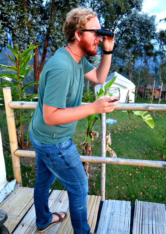 Drunk birding.
