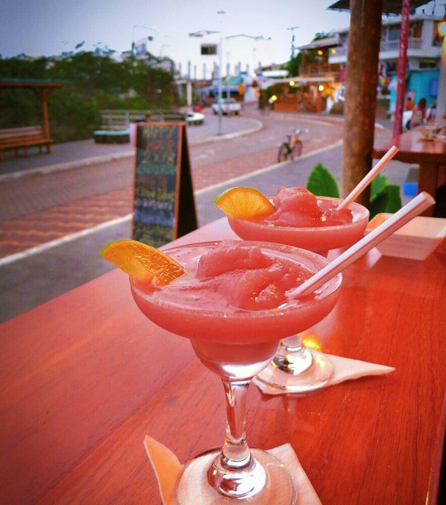 2 for $8 Happy Hour daquiries in Puerto Ayora!