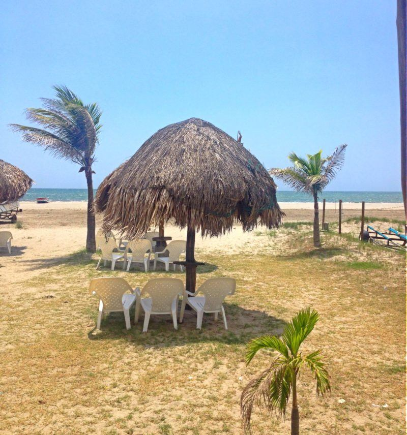 La Boquilla, a small fishing town on the Caribbean, outside
