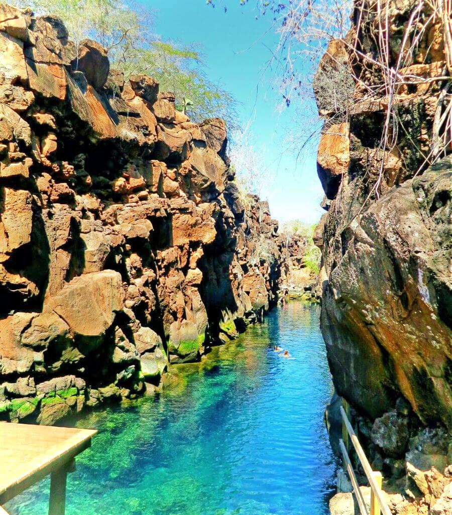 Self guided visit to Las Grietas, near Punta Estrada, in Puerto Ayora, Santa Cruz Island, Galapagos, Ecuador