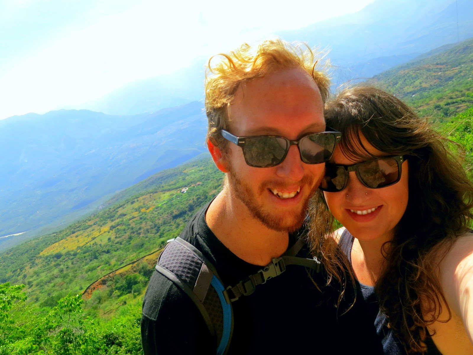 Selfie while hiking from Barichara to Guane near San Gil, Colombia!