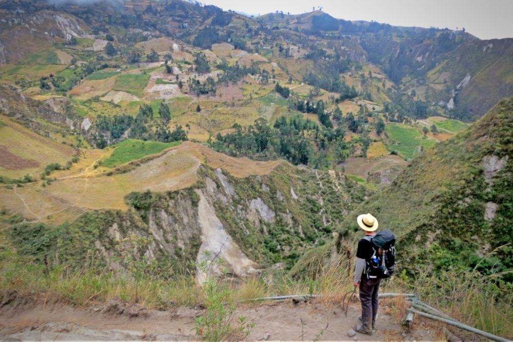The canyon between Quilotoa and Chugchilan, on the Quilotoa Loop hike, in Ecuador.