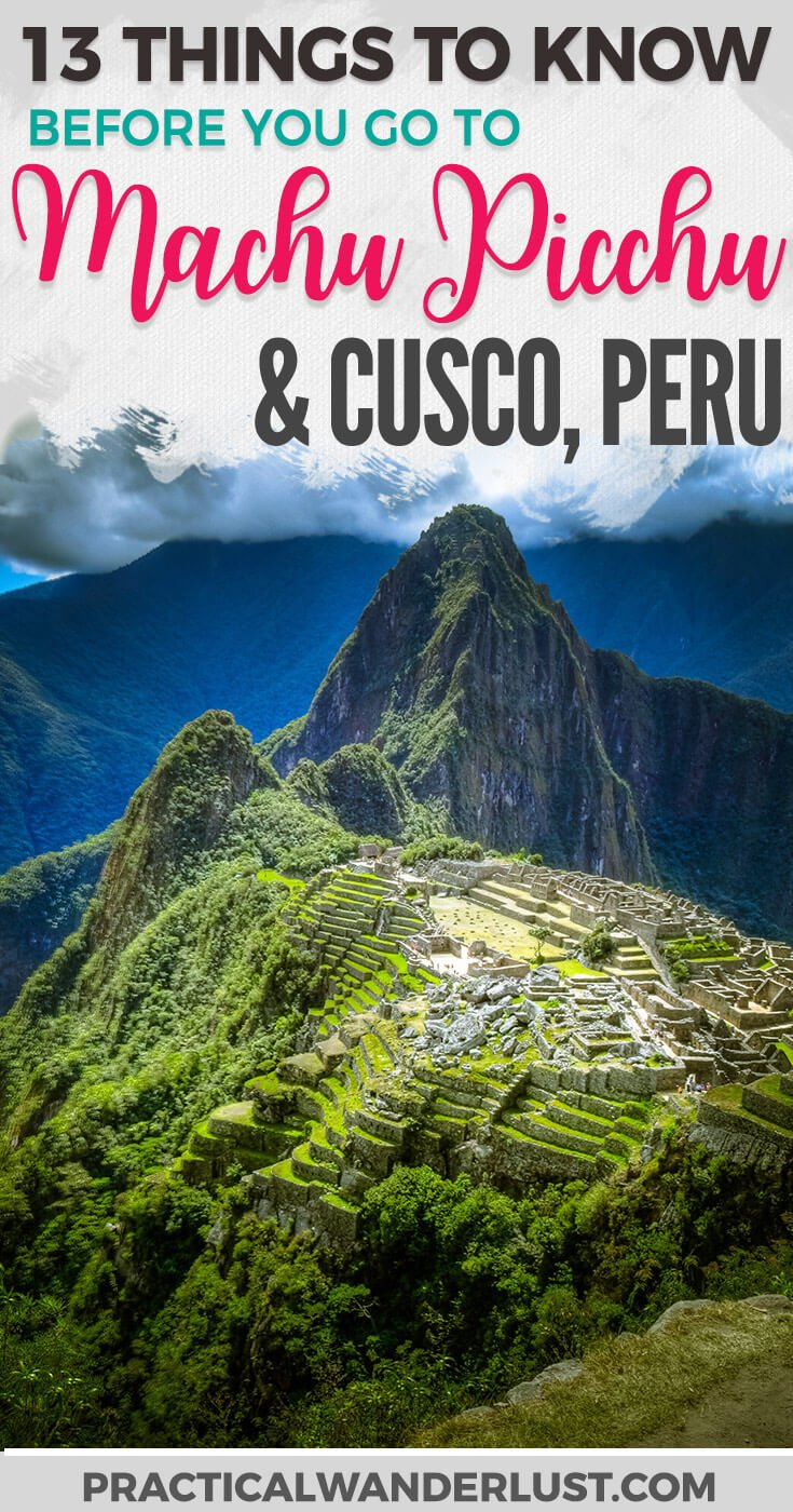 Visiting Machu Picchu is not for the faint of heart (or height). Here's what you need to know before you go to Cusco and Machu Picchu in Peru! Travel tips for the most popular tourist destination South America. South America Travel | What to do in Cusco | Peru Travel | Peru Travel Tips | South America Travel Tips | Machu Picchu Peru