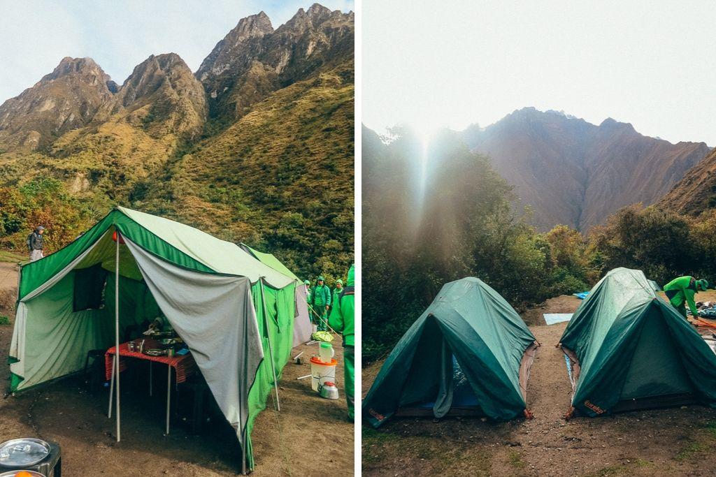 Campsite on the Inca Trail in Peru