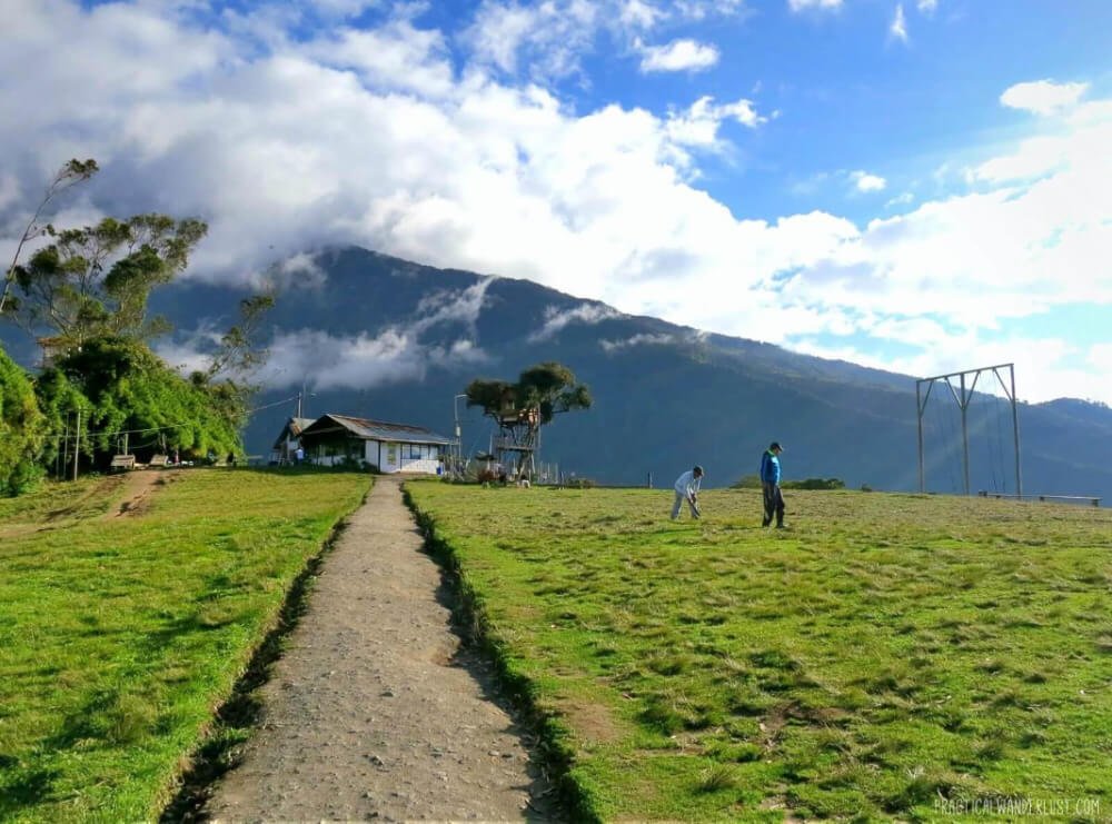 The picturesque Casa de Arbol, home of the famous Swing at the End of the World, in Baños, Ecuador.