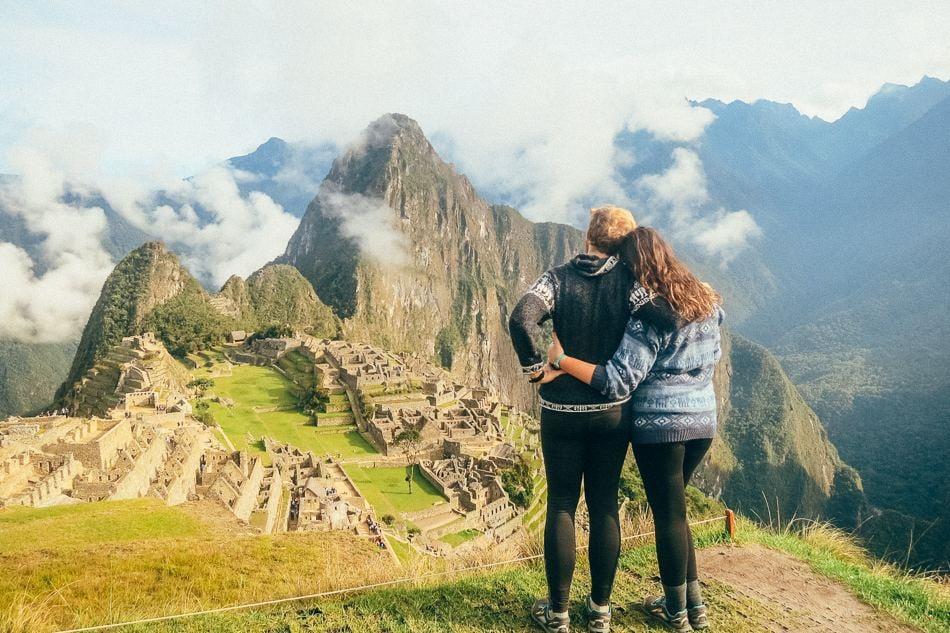 Climbing Machu Picchu in Peru, South America