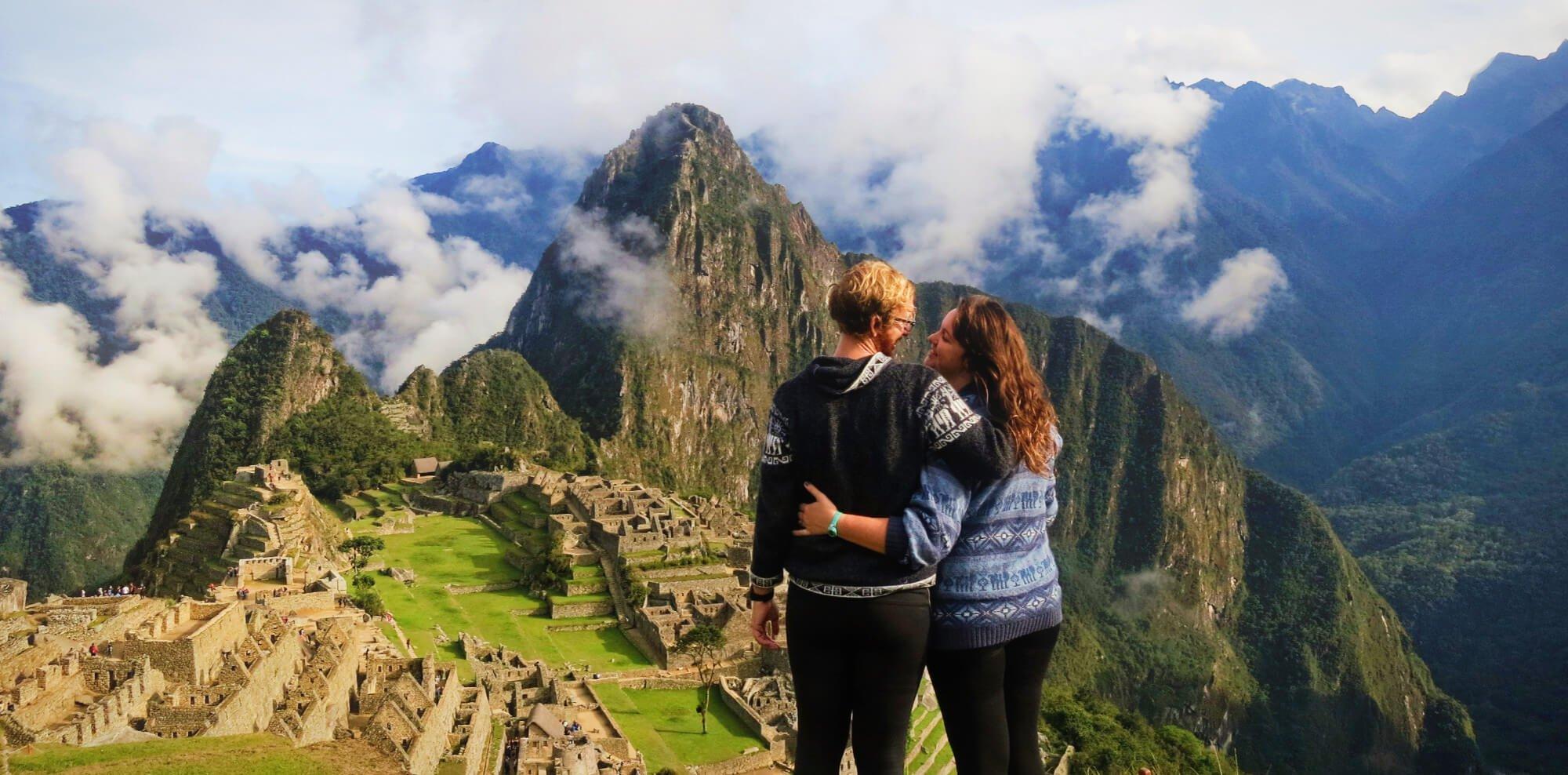 Contemplating our failure on the Inca Trail to Machu Picchu, Peru.