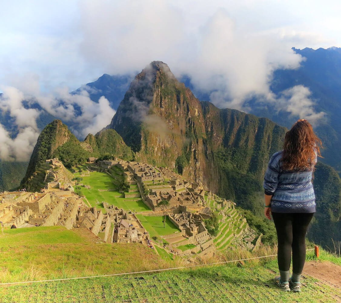 Overlooking Machu Picchu after our Inca Trail hike failure.