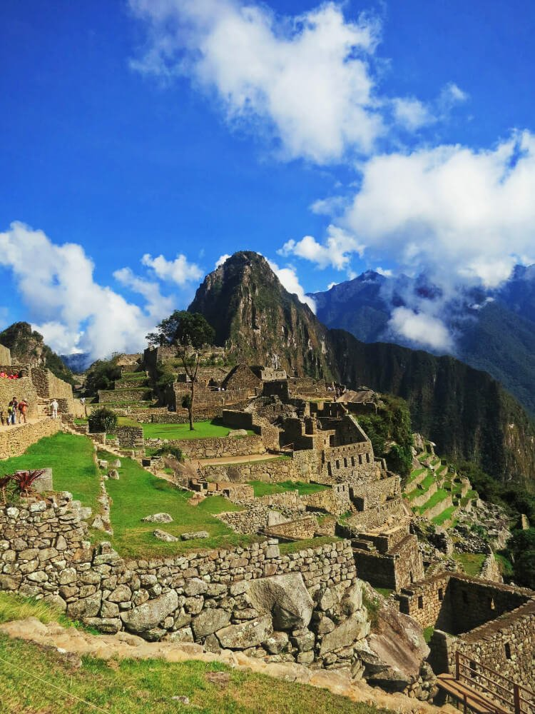 Machu Picchu, Peru. We tried hiking the Inca Trail to get here, but then we had to turn around and hike back.
