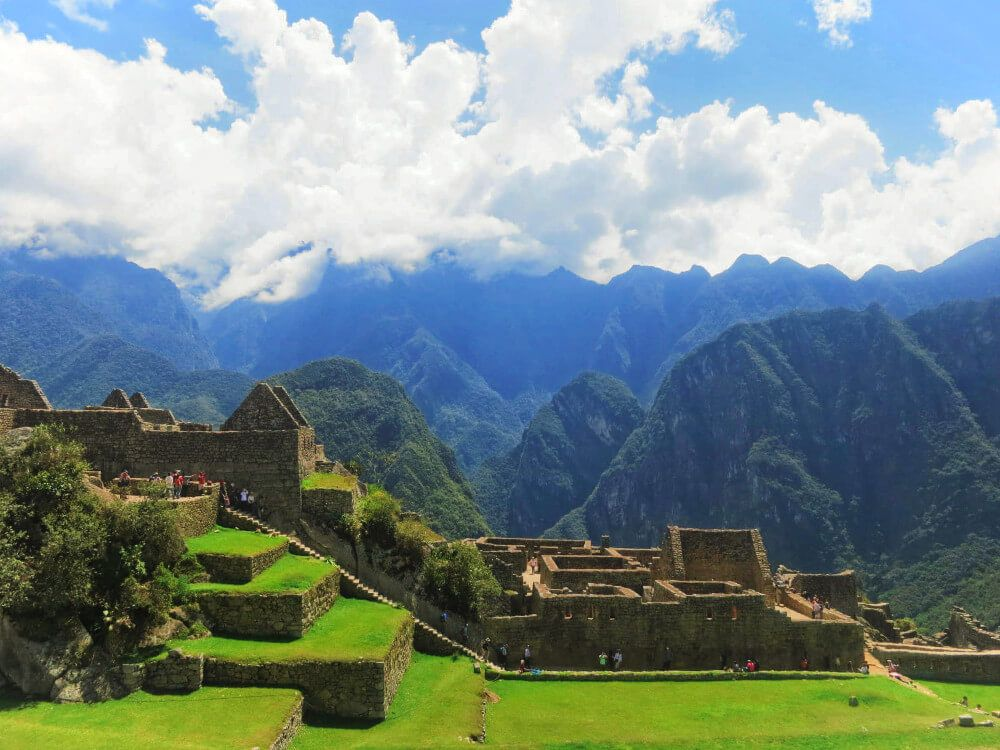 The ruins of Machu Picchu, Peru, after our failure on the Inca Trail.