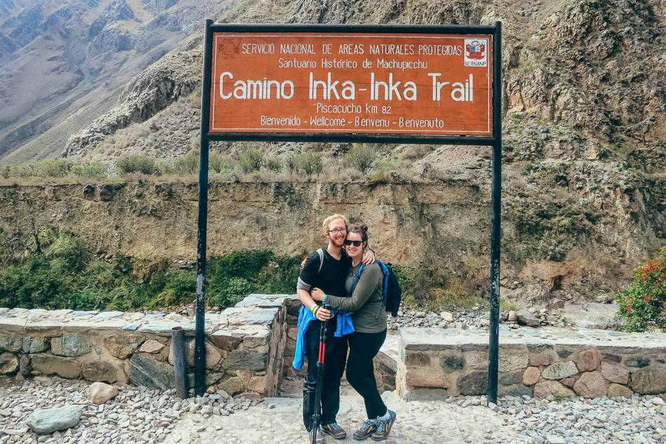 The start of our Inca Trail hike to Machu Picchu