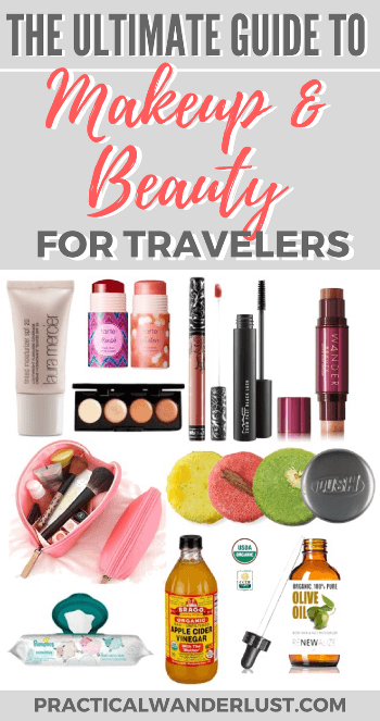 Staying gorgeous while traveling isn't the easiest task. After months of backpacking, I've found the best makeup for travel! Read my ultimate guide to makeup & beauty for travel for beauty tips, product recommendations, skincare advice, and multi }-tasking travel must-haves!