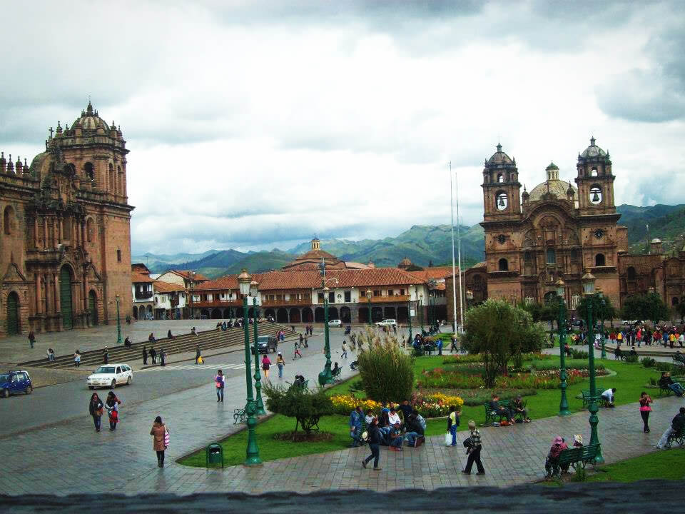 The Plaza de Armas in the center of Cusco, Peru. Read our article about things to know before you go to Cusco and Machu Picchu!