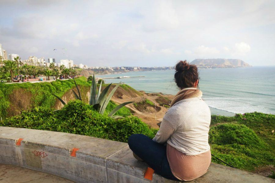 Watching the sunset in Lima, Peru.