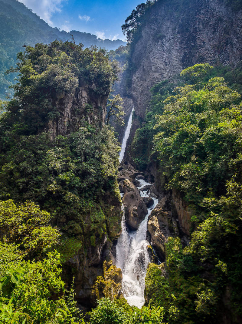 The Ruta de las Cascadas in Banos, Ecuador will take you past 7 absolutely stunning waterfalls.