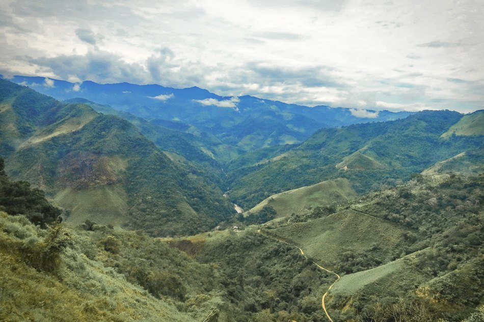 View of the Andes from the bus from Ecuador to Peru