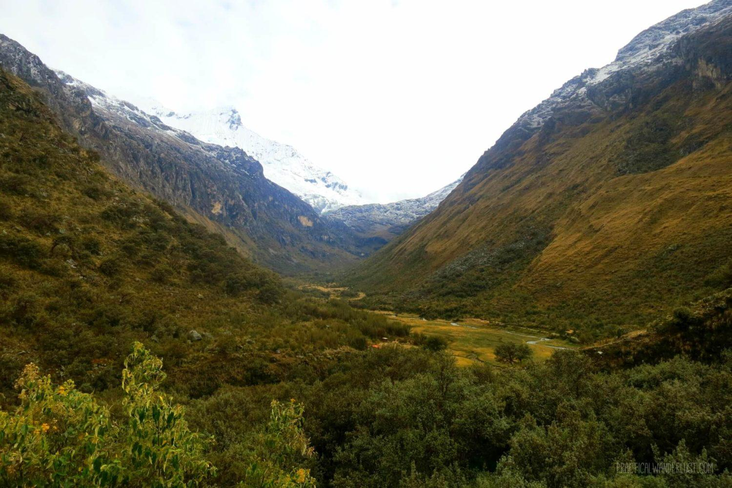 This valley sitting between two glaciers is just off the bus from Huaraz on the way to the Laguna 69 trailhead. A breathtaking start to the trek.