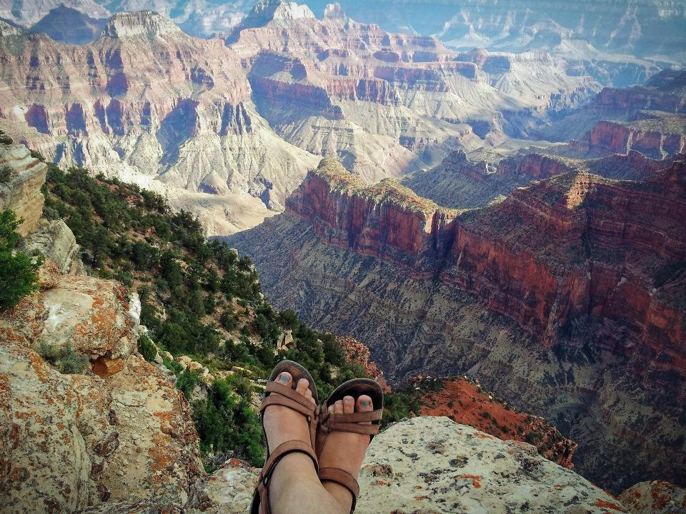The Grand Canyon in the United States.