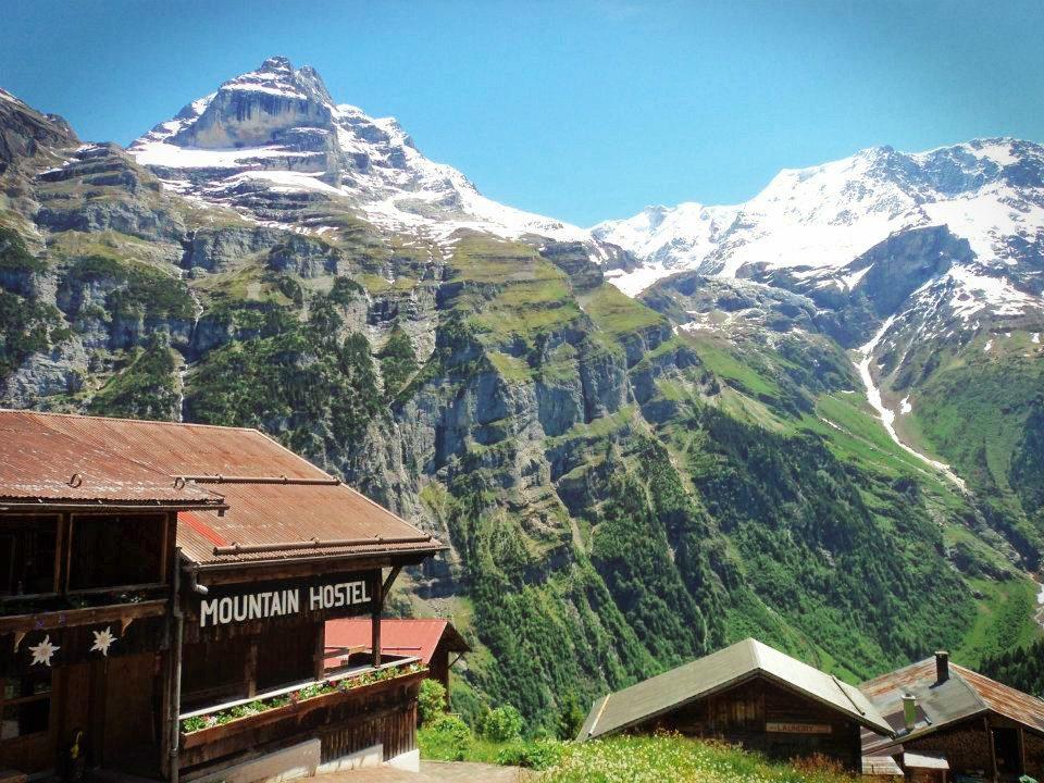 Mountain Hostel in Gimmelwald, Lauterbrunnen, Switzerland. My favorite place in the world.